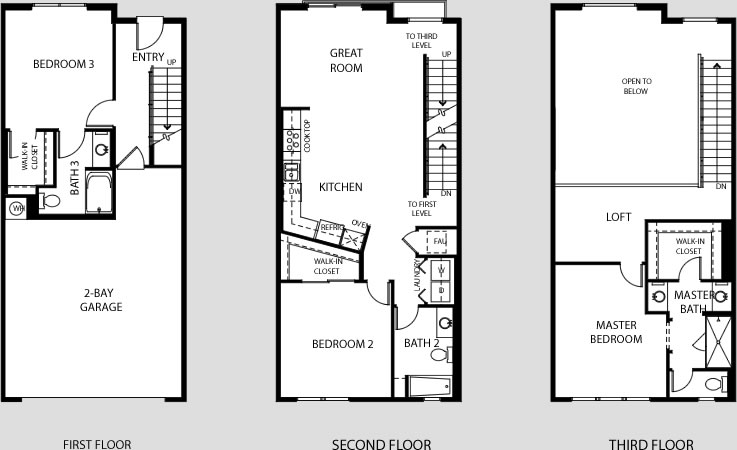 Central park west irvine ca flats lofts townhomes towers for Loft floor plans with dimensions